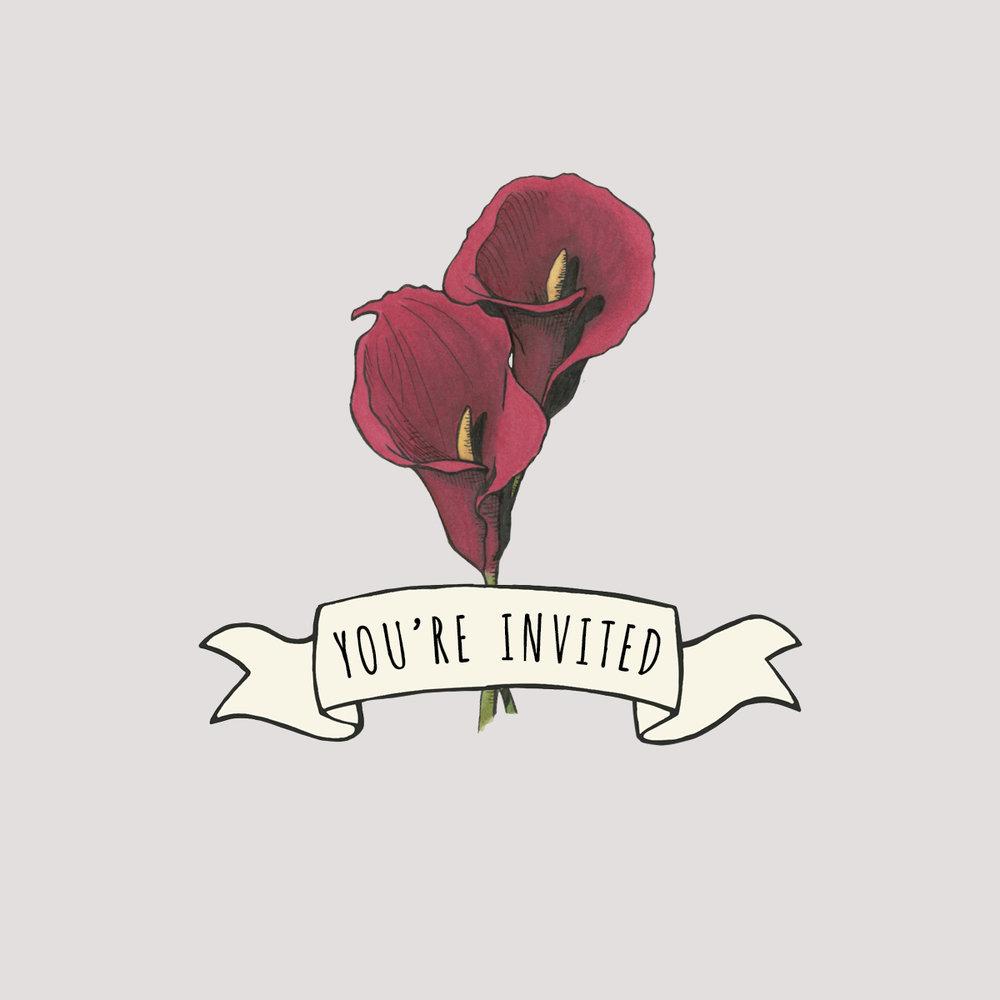 Wedding invite design.