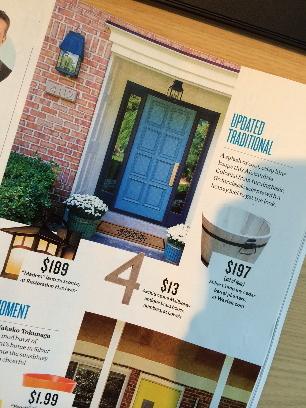 "Featured in the September 2014 issue of the Washingtonian Magazine - ""Pretty Portals"""