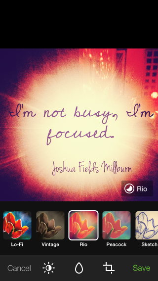 Rio: One of Path's filters.