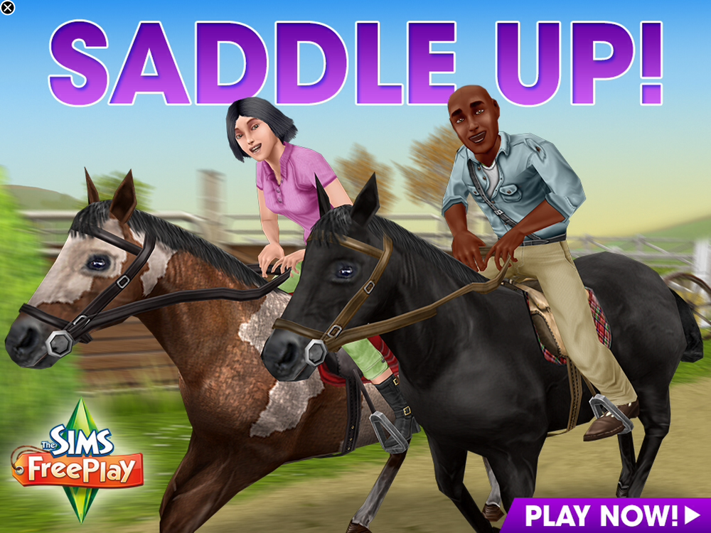 The Sims Freeplay ad for the Need for Steed quest