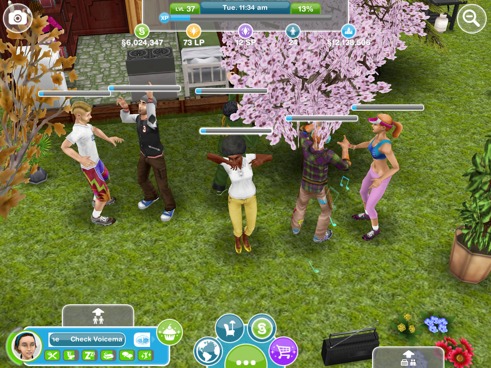 It's party mode for these Sims.