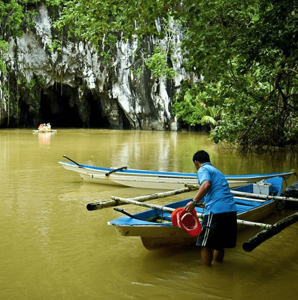 Entrance to the Underground River in Puerto Princesa, Palawan, Philippines.
