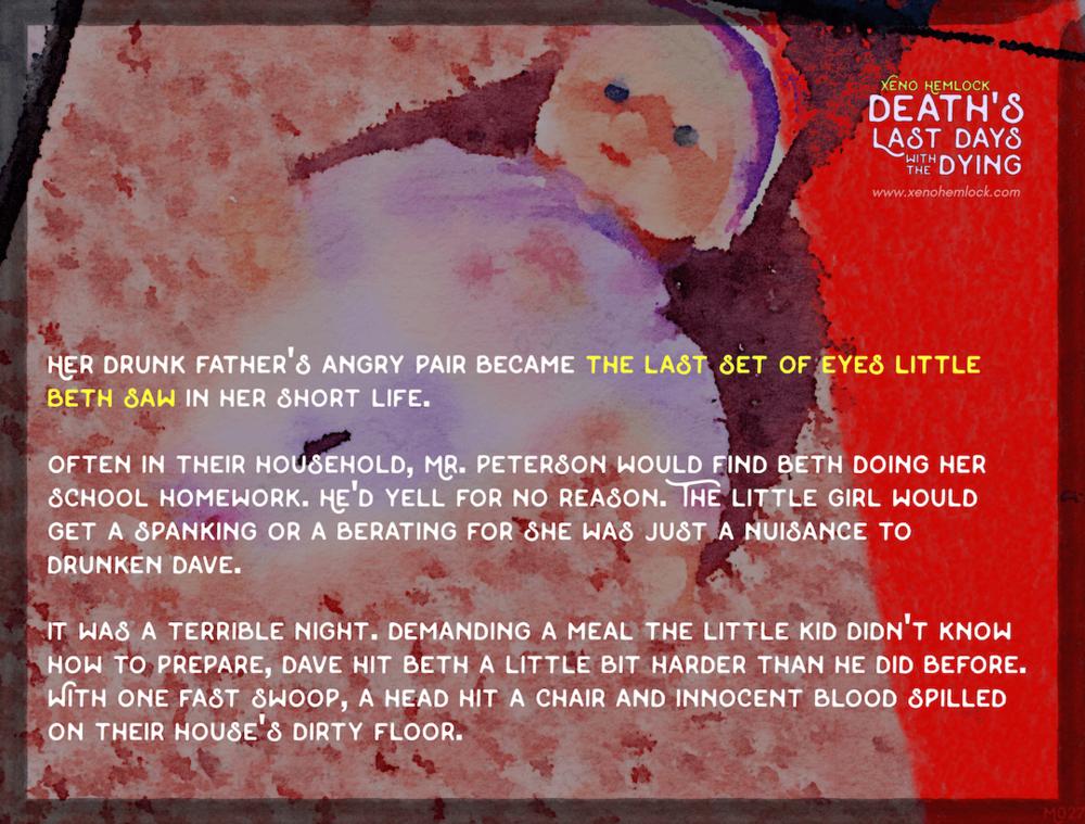 Xeno Hemlock Death Drabble Dying Last Set Eyes Little Beth Saw.png