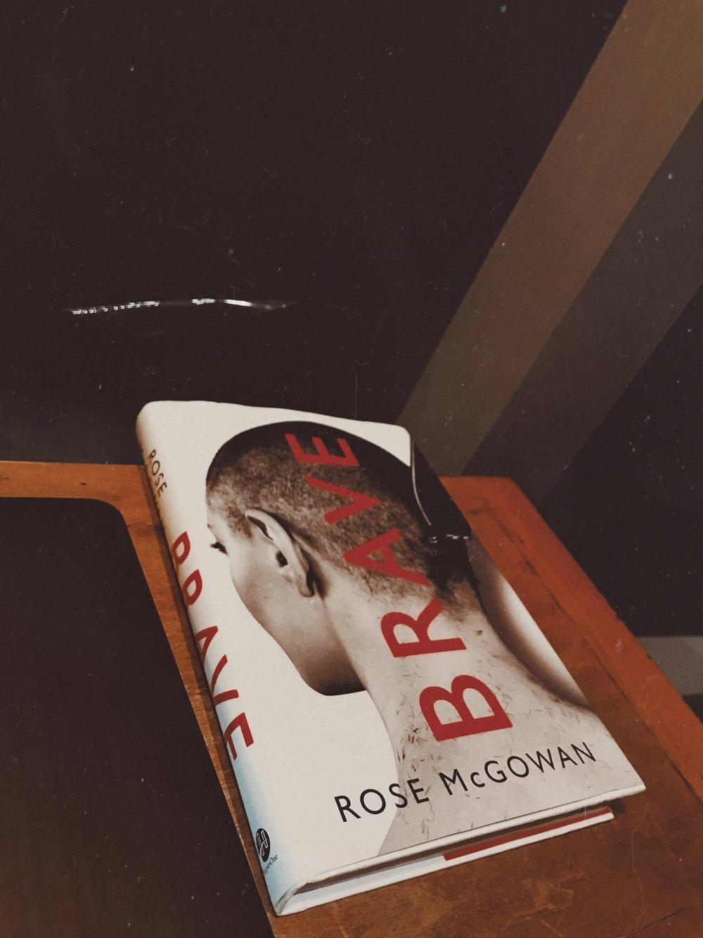 My copy of Rose McGowan's  Brave