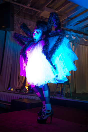 Althea Trix dropping jaws with her eight legged realness.  Photo by Fun Loving Photos