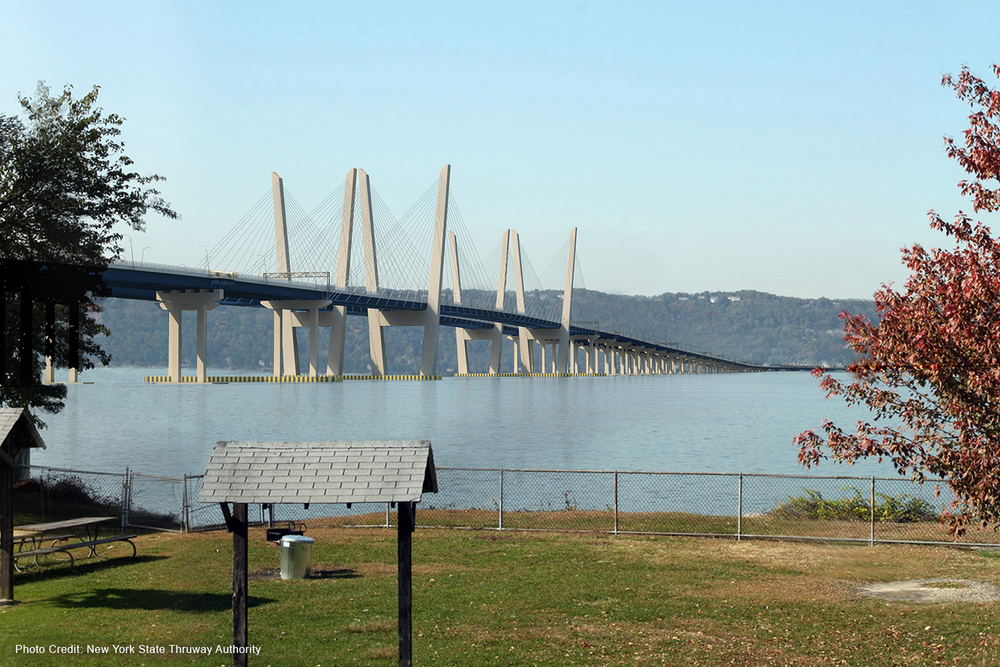 Rendering of the new Tappan Zee Bridge: credit Tappan Zee Hudson River Crossing Project