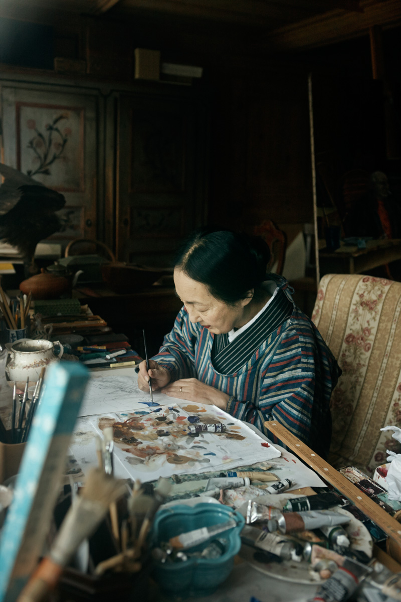Setsuko in her Atelier