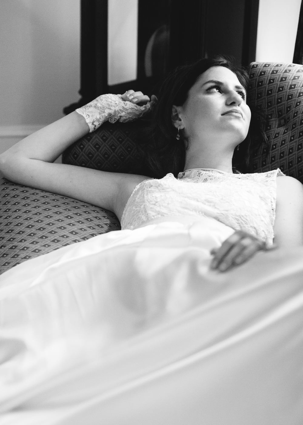 Bridal Portrait at home in Raleigh, North Carolina