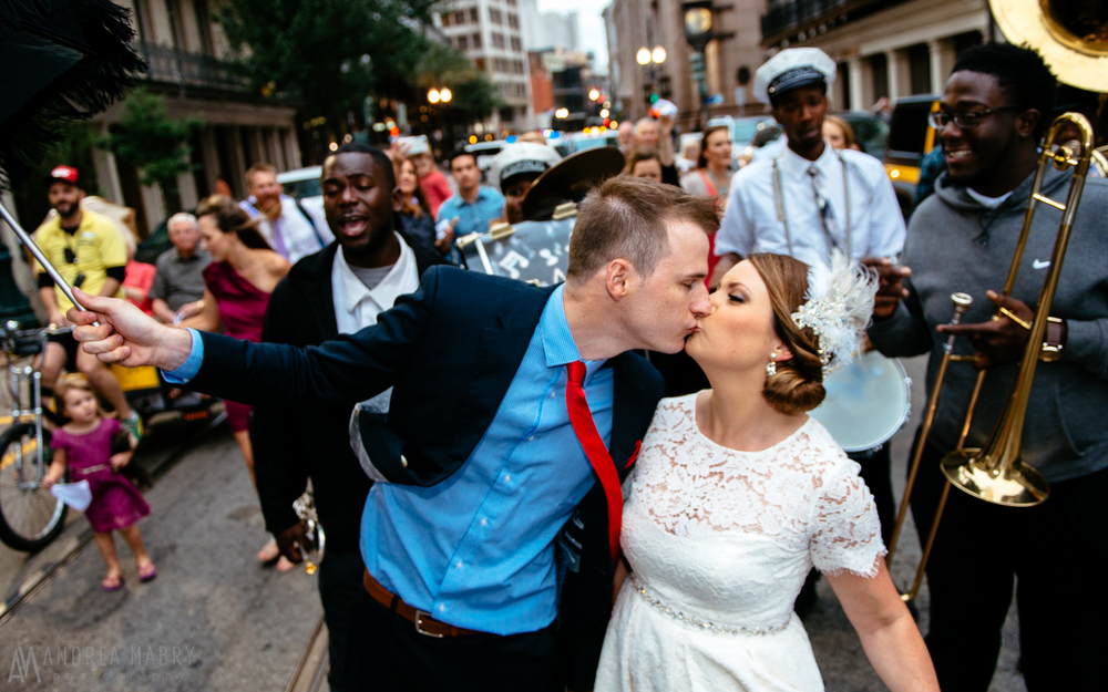 Wedding Second Line, St. Charles Avenue, New Orleans, Louisiana
