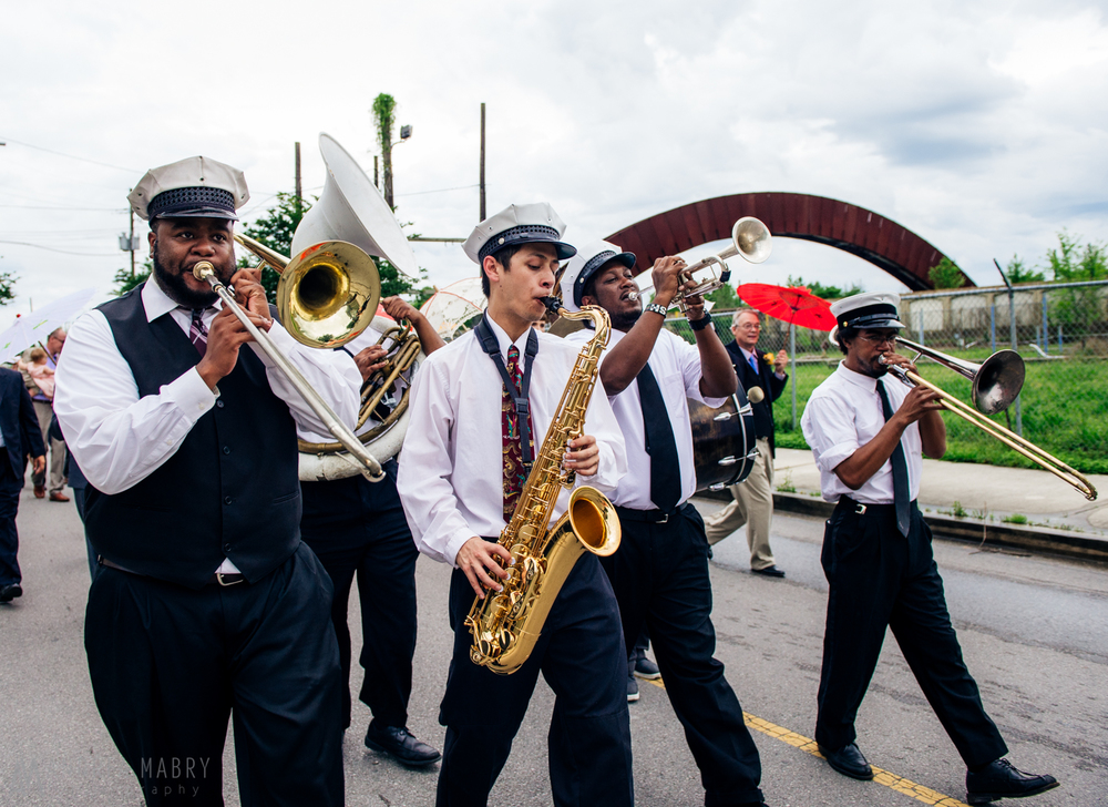 Brass Band, Wedding Second Line, New Orleans, Louisiana