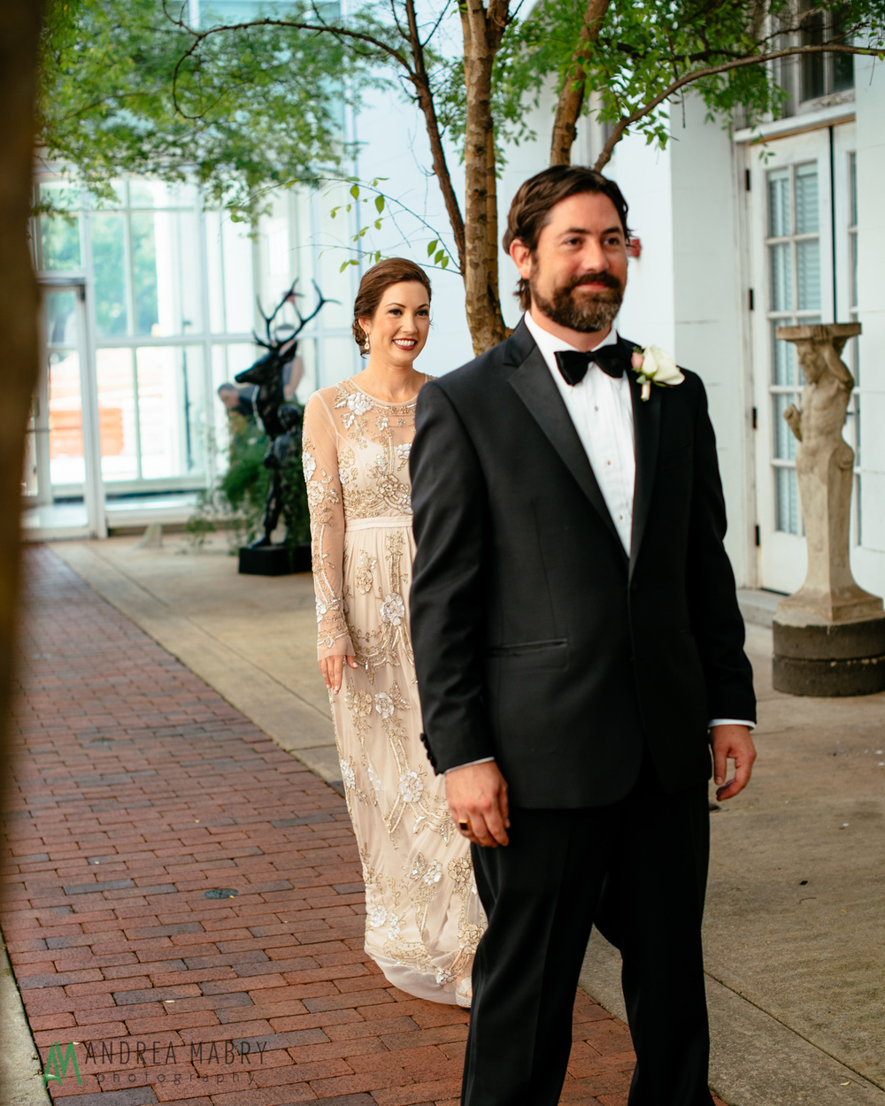 First look at the History Museum of Mobile. Government Street Presbyterian Church Mobile Wedding. Andrea Mabry Photography.