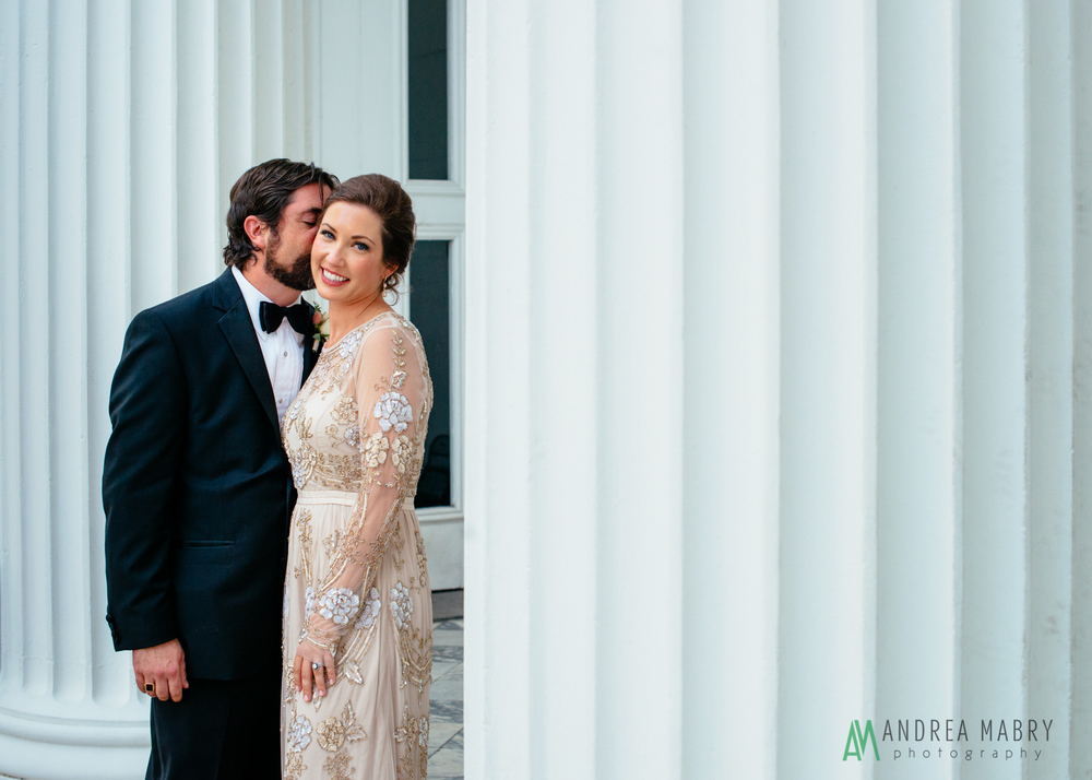 Wedding Portraits.   Government Street Presbyterian Church Mobile Wedding. Andrea Mabry Photography.