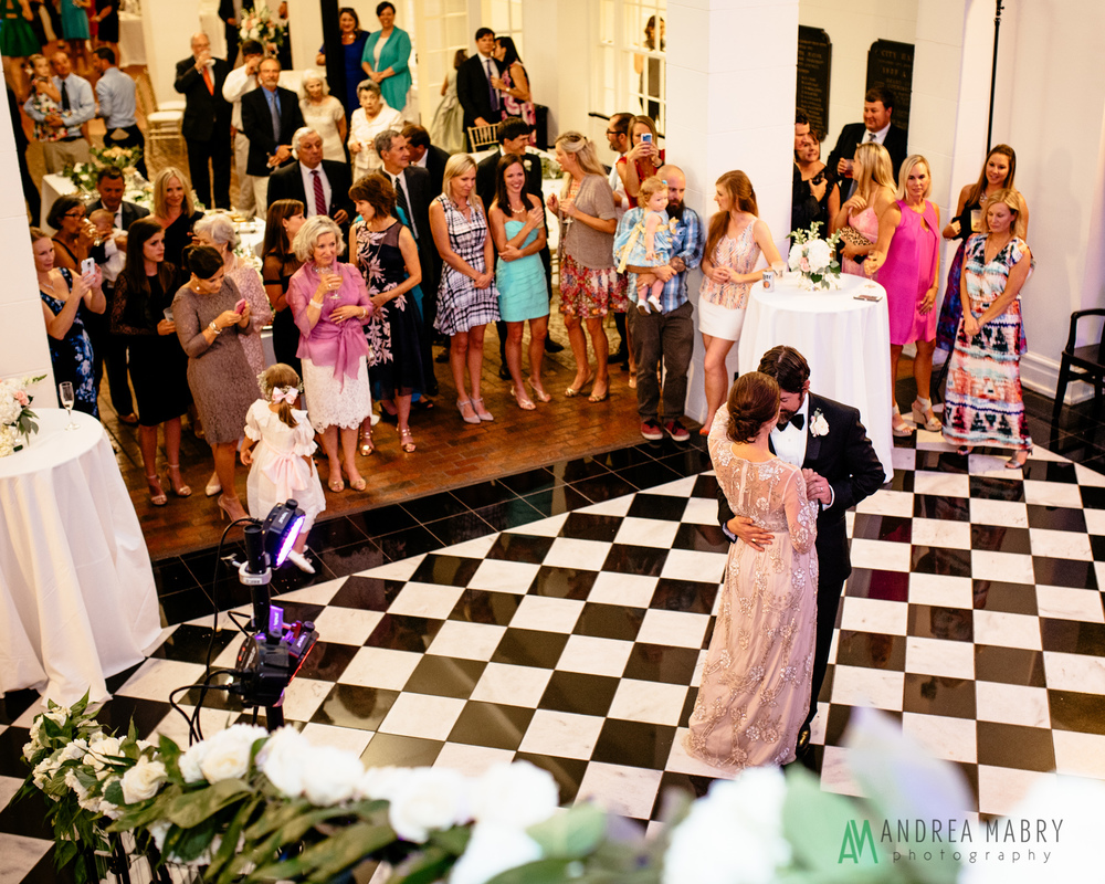 History Museum of Mobile wedding reception. Government Street Presbyterian Church Mobile Wedding. Andrea Mabry Photography.