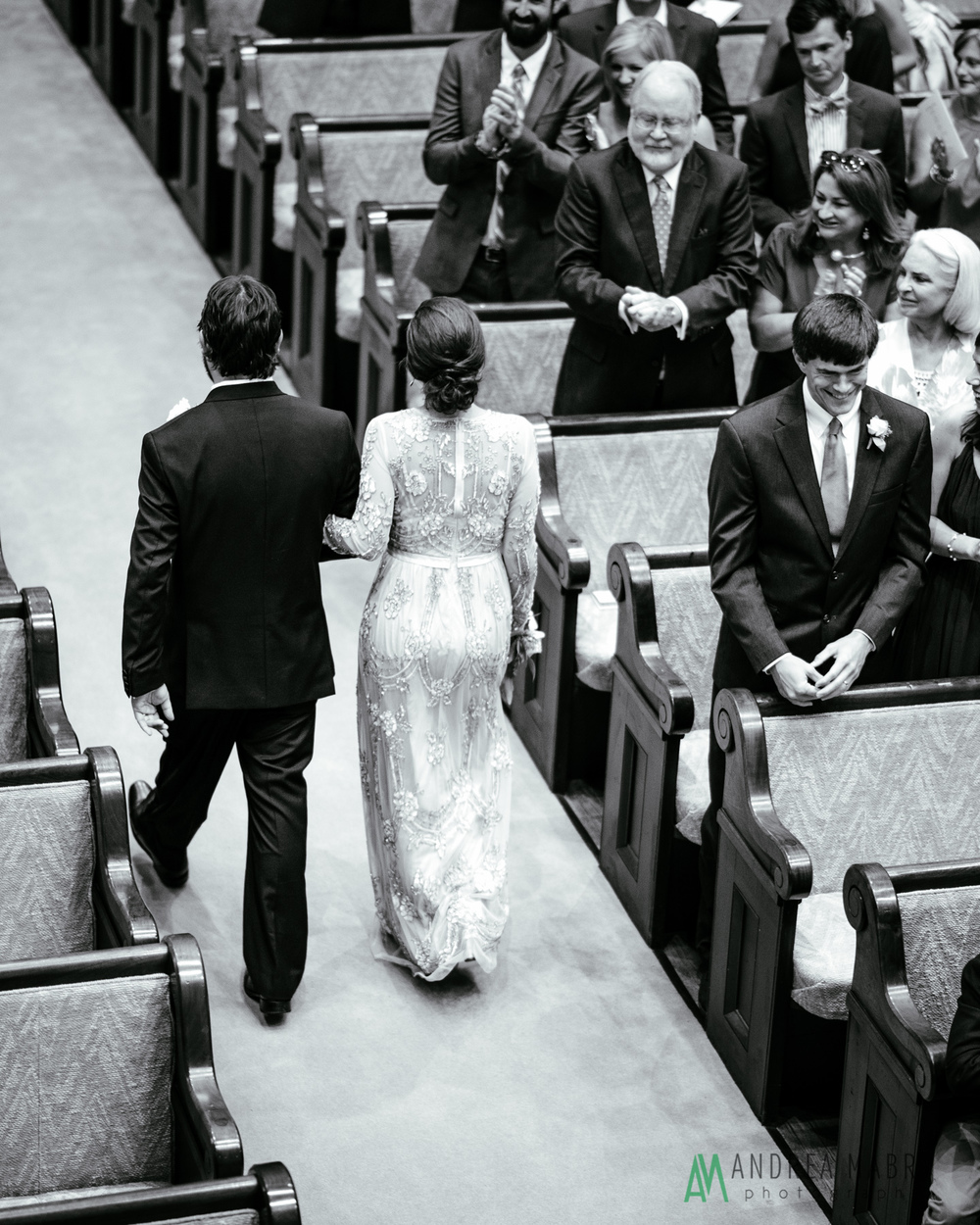 Government Street Presbyterian Church Mobile Wedding. Andrea Mabry Photography.