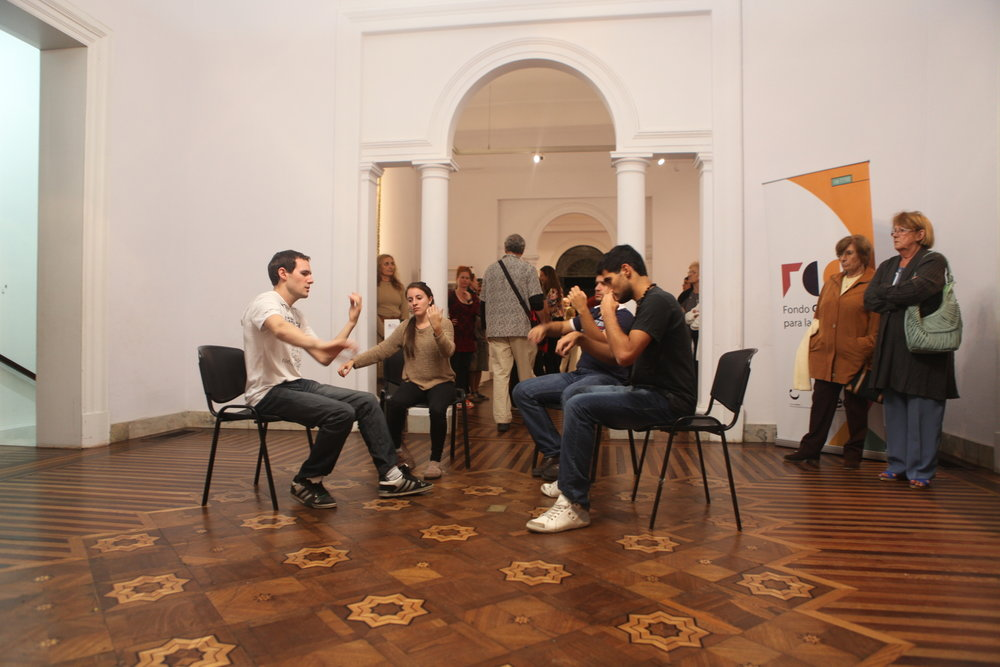 Music Thinks Itself in Me Location: Museo Juan Manuel Blanes, Montevideo Date: 2014 Performance, 30 min.