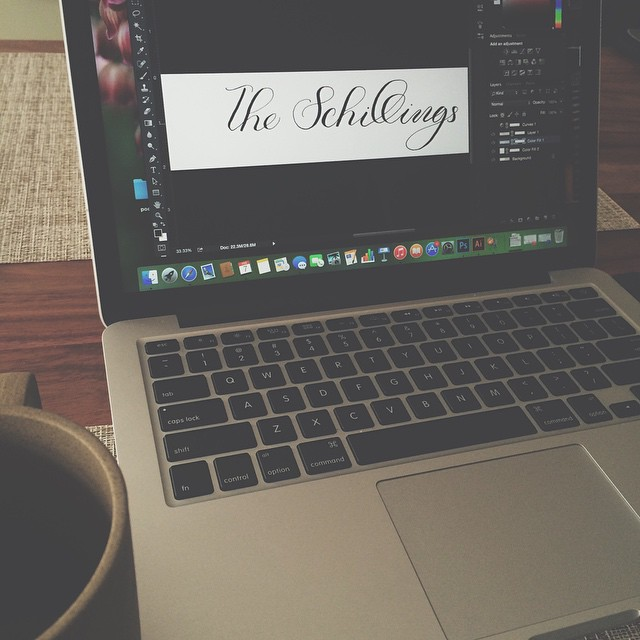 A Saturday morning with a cold isn't so bad when coffee and calligraphy are your companions. #moderncalligraphy #digital calligraphy #calligraphy #custom projects