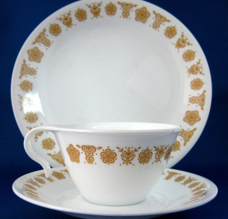 Corelle Butterfly Gold, the dishware that we and everyone else seemed to have in the 90's.