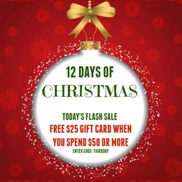 Our third day of Christmas sale is here with a FREE $25 gift card with a purchase of $50 or more! Enter THIRDDAY at checkout. Check our insta for a new flash sale every day until 12/17/16. TIS' THE SEASON FOR FREE SERVICES.... FA LA LA LA LA LA LA LA LA! *Free shipping on any order over $50: CODE FREESHIP *Free gift wrapping on any order: CODE GIFTWRAP (shop link in bio & sign up for our mailing list to get $10 off your first purchase)  #alabama #nola #neworleans #saintsfootball #fashiondaily #ggfashionzone #southern #gameday #lsu #lsufootball #lsutigers  #nola #neworleans #sec #mikethetiger #nfl #southern #gameday #lsu #lsufootball #lsutigers  #texas #mikethetiger #nfl #universityofalabama #olemiss #msu #floridastate #ohiostate #texasam #cybersale #deals #sale