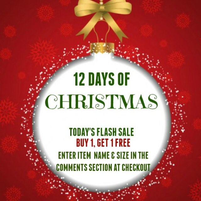 Our 6th day of Christmas sale is here with BUY 1 GET 1 FREE! 🤗(Enter item name and size in comments at checkout) 🎁Check our insta for a new flash sale every day until 12/17/16.⌛️ TIS' THE SEASON FOR FREE SERVICES.... FA LA LA LA LA LA LA LA LA!☃️ *Free shipping on any order over $50: CODE FREESHIP *Free gift wrapping on any order: CODE GIFTWRAP (shop link in bio & sign up for our mailing list to get $10 off your first purchase)  #alabama #nola #neworleans #saintsfootball #fashiondaily #ggfashionzone #southern #gameday #lsu #lsufootball #lsutigers  #nola #neworleans #sec #mikethetiger #nfl #southern #gameday #lsu #lsufootball #lsutigers  #texas #mikethetiger #nfl #universityofalabama #olemiss #msu #floridastate #ohiostate #texasam #cybersale #deals #sale