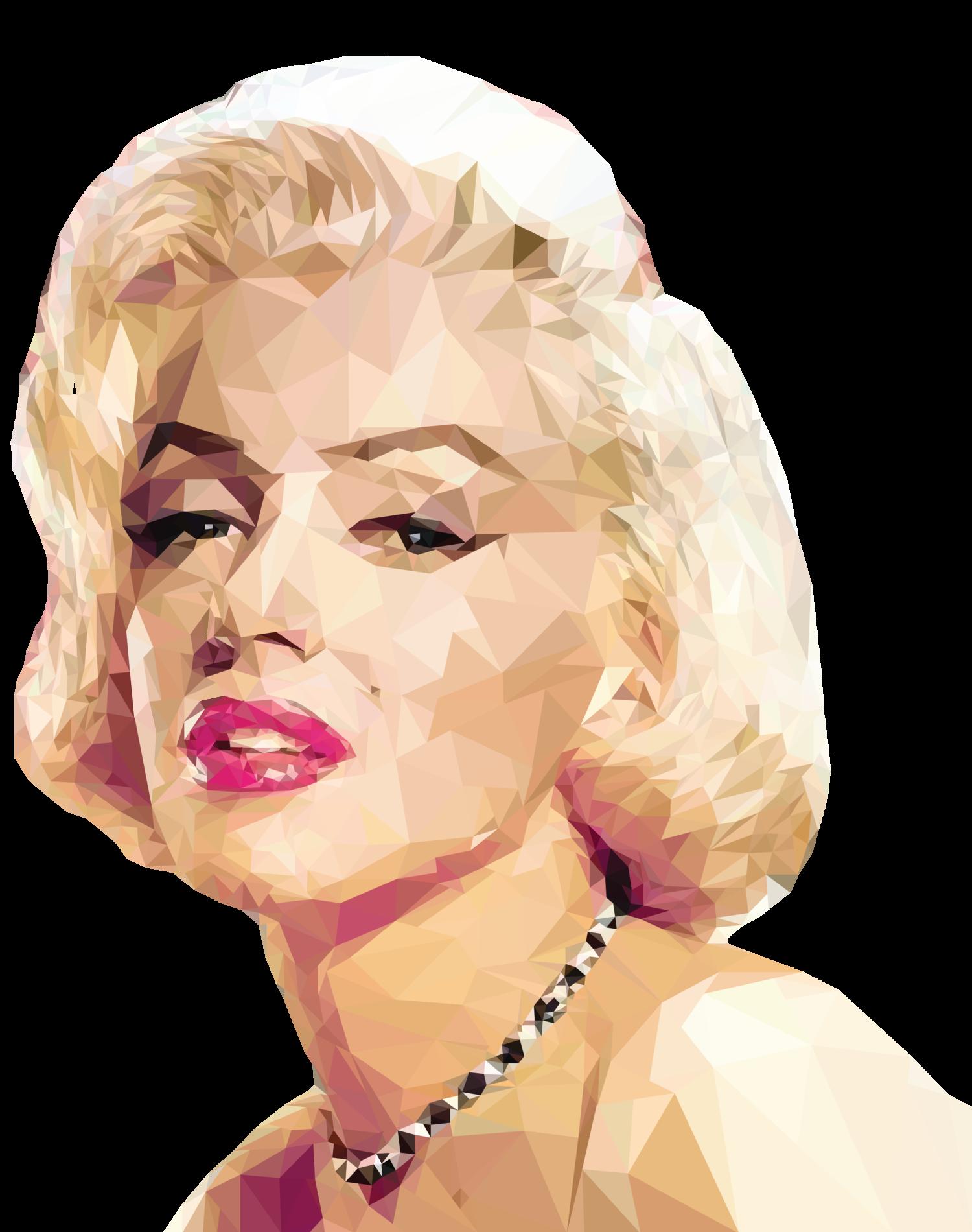 """""""Trianglized"""" Marilyn Monroe Portrait — XIAN MIN.C Tabby Cat Cartoon Drawing"""