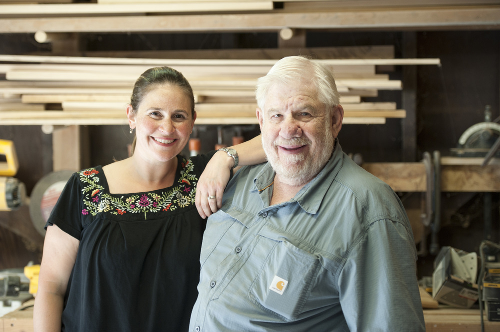 David (aka Pop-Pop) Meltzer and Kate Meltzer Levin, Father-Daughter team and Co-Owners of Pop-Pop's Children's Furniture Company