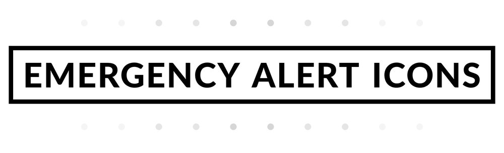 As A Part Of Study In Icon Design And Development I Created 6 Emergency Alert Icons These Would Ideally Be Integrated Into Web Mobile App