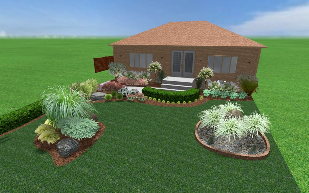 S&le of our Computer Assisted Designs & Landscape Garden Design \u2014 Magic Hands Gardening