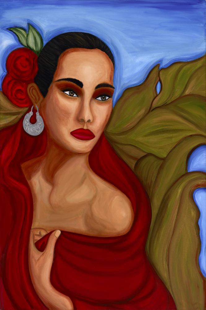 Mujer con Rebozo Rojo.jpg