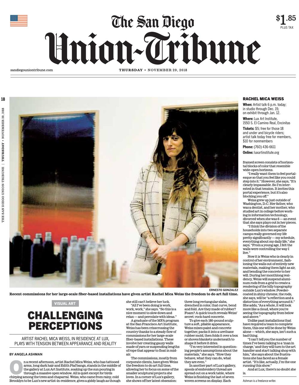 The San Diego Union Tribune (2018)