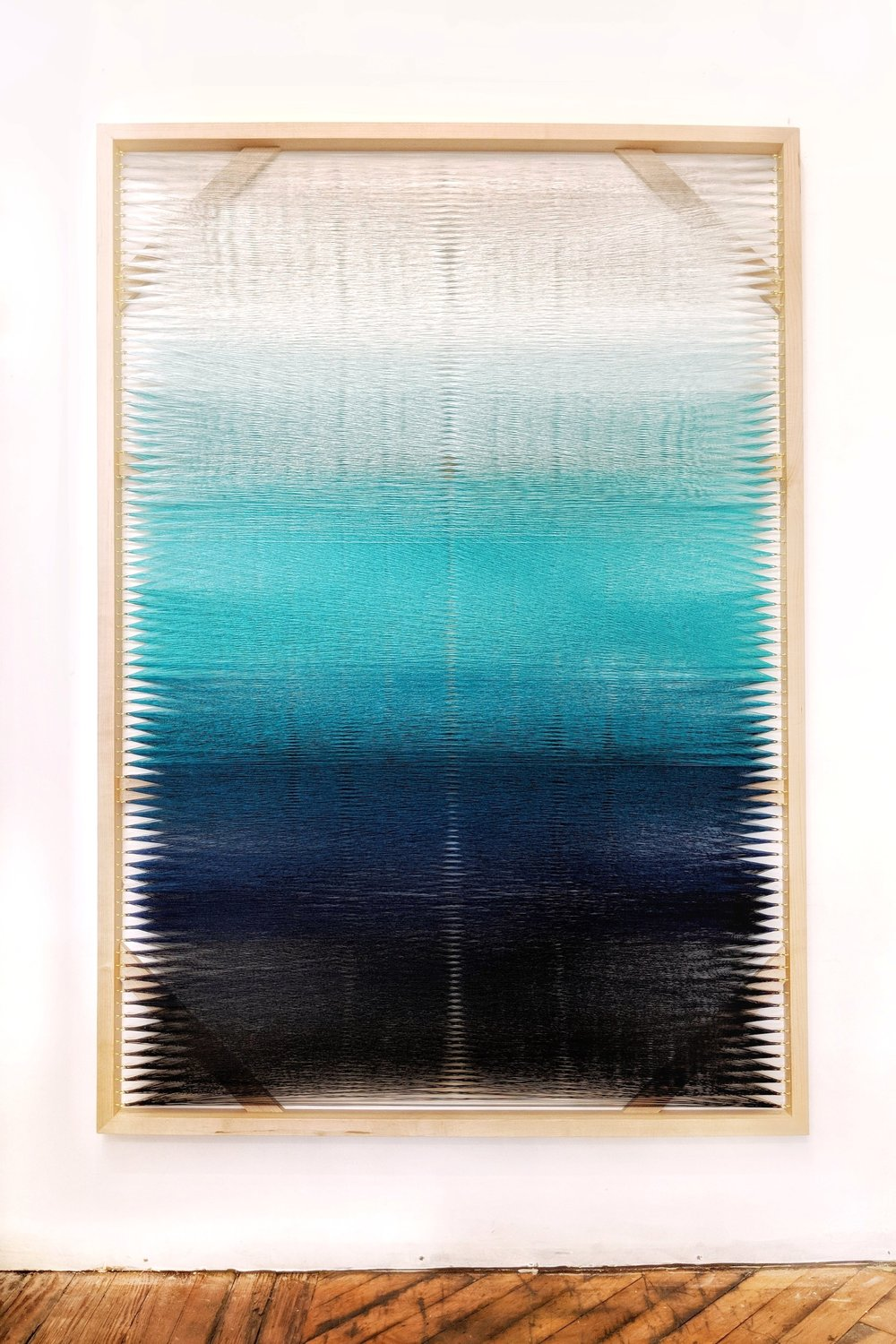 Woven Screen (Turquoise Gradient)