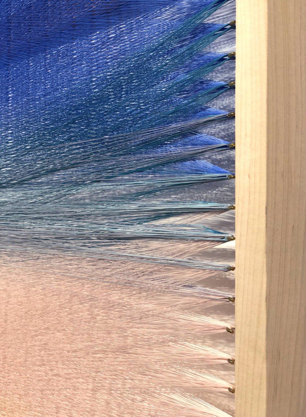 Woven Screen (Pastel Gradient), detail