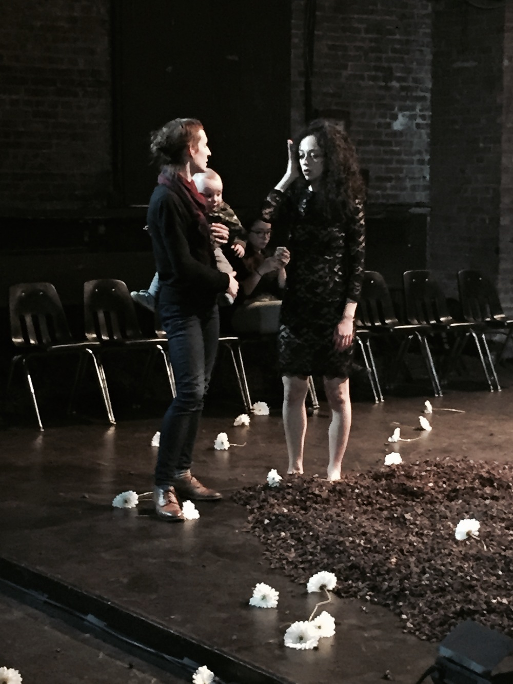 Coaching on set for Dido & Aeneas