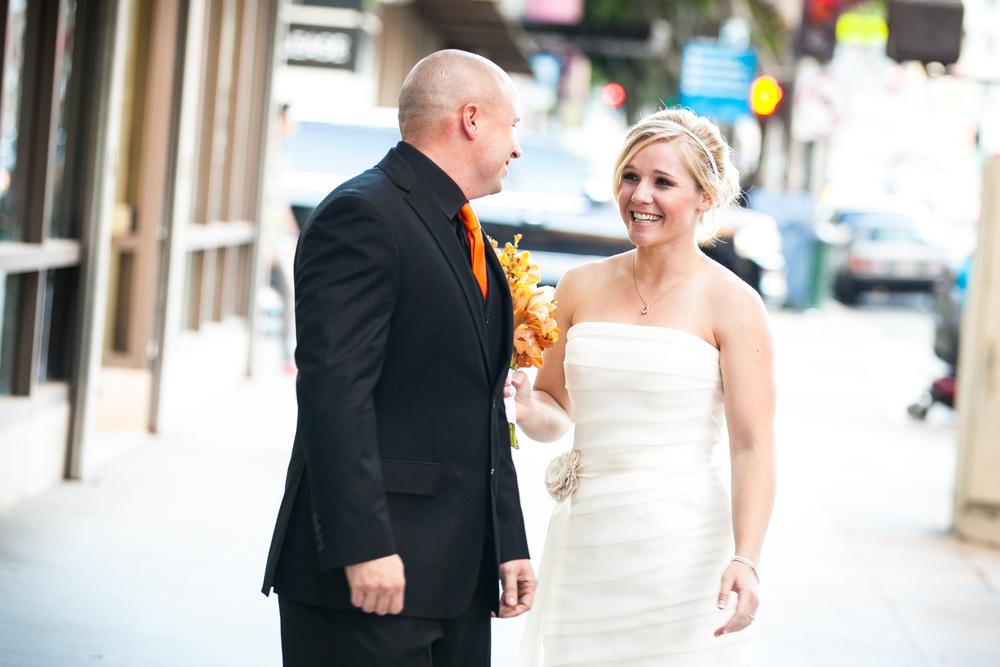 Santa Clarita Wedding Photographers first look