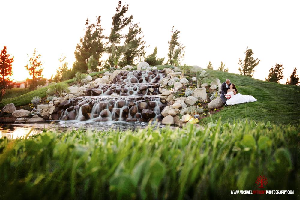Rancho Vista Cascades country club wedding photos