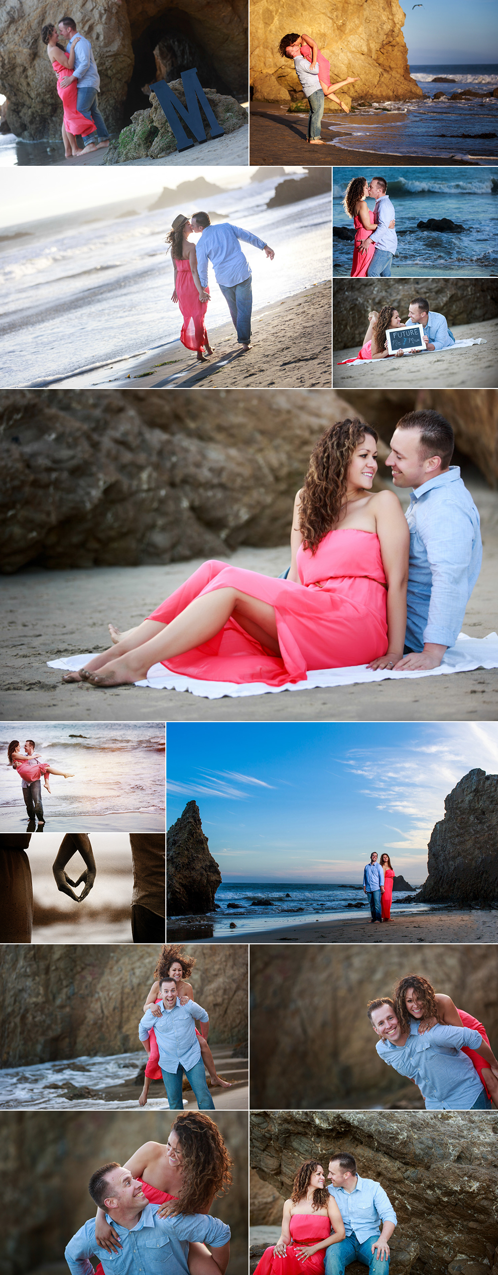 , Iris and Randy's Fire Station Engagement Session | El Matador Beach Engagement Session | Santa Clarita, Los Angeles Wedding Photographers