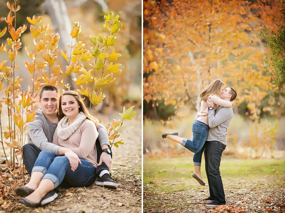 , A Colorful Fall Engagement Session at Placerita Canyon | Kelly and John | LA Wedding Photographers