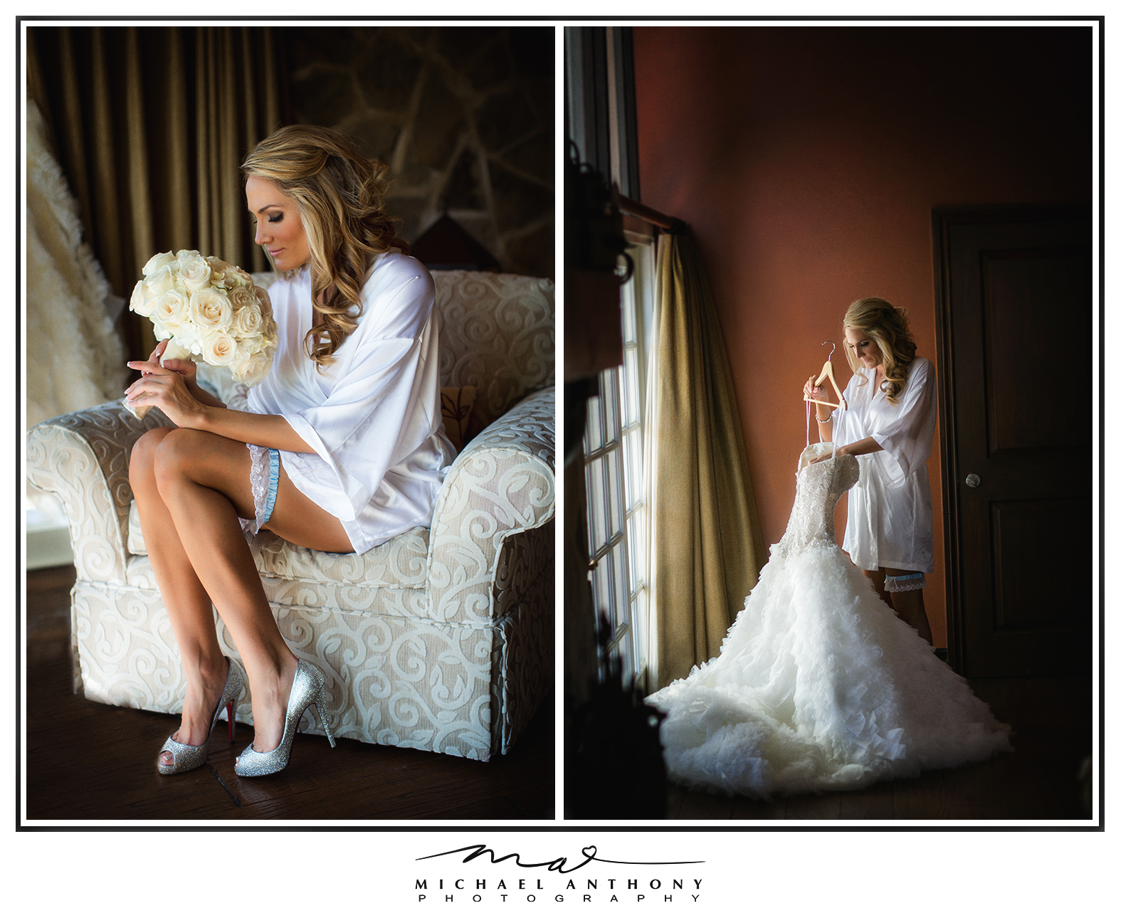 Heather got ready at the stunning Westlake Village Inn in Westlake Village, CA.  This is a gorgeous Los Angeles Wedding Venue and we were happy to capture these images for her.  This suite was large, decorated beautiful, and had an awesome window which allows for nice light to flow into the room.