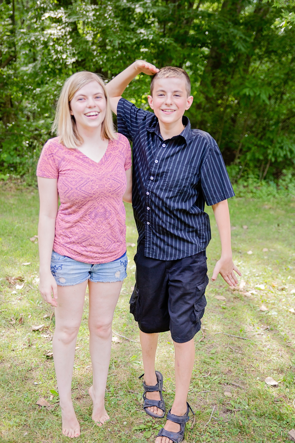 My oldest son, Cole, loves to tease his Aunt Mariah about being almost taller than her.
