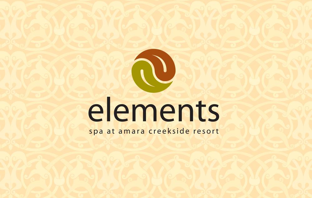 Identity spiral creative services for 4 elements salon