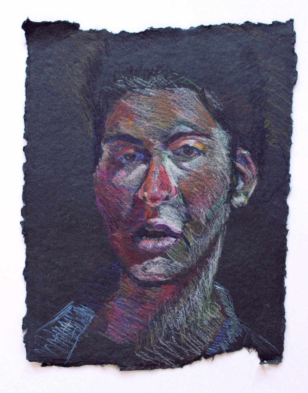 """Colored Pencil on Rag Paper. 8.5"""" x 11"""". 2019"""