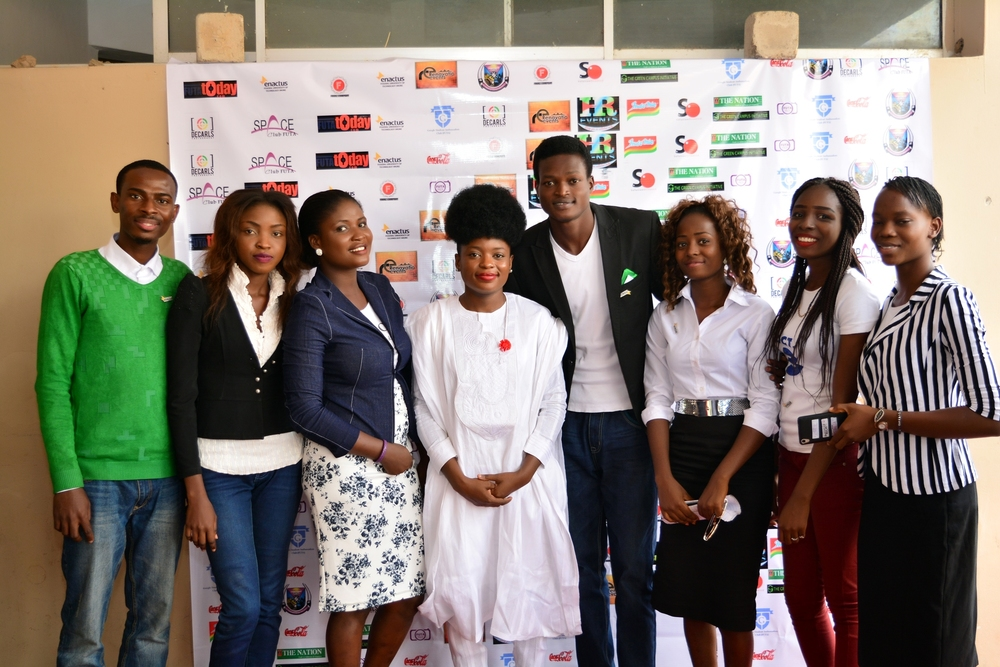MEMBERS OF THE SPACE CLUB FUTA WITH THE KEYNOTE SPEAKER, ADENIKE AKINSEMOLU