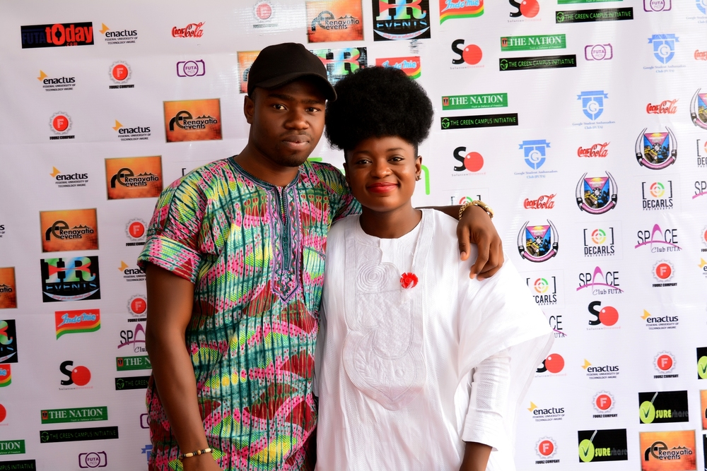 Adenike Akinsemolu and a Green Ambassador from FUTA