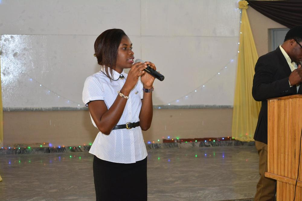Abisola Onibi talking about ENACTUS FUTA Team