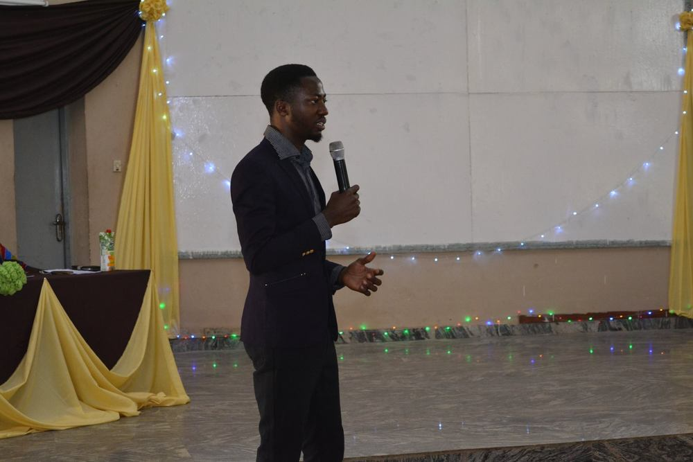 Oniosun Temidayo Isaiah (One of the Key Organizers) talking about the University Space Club