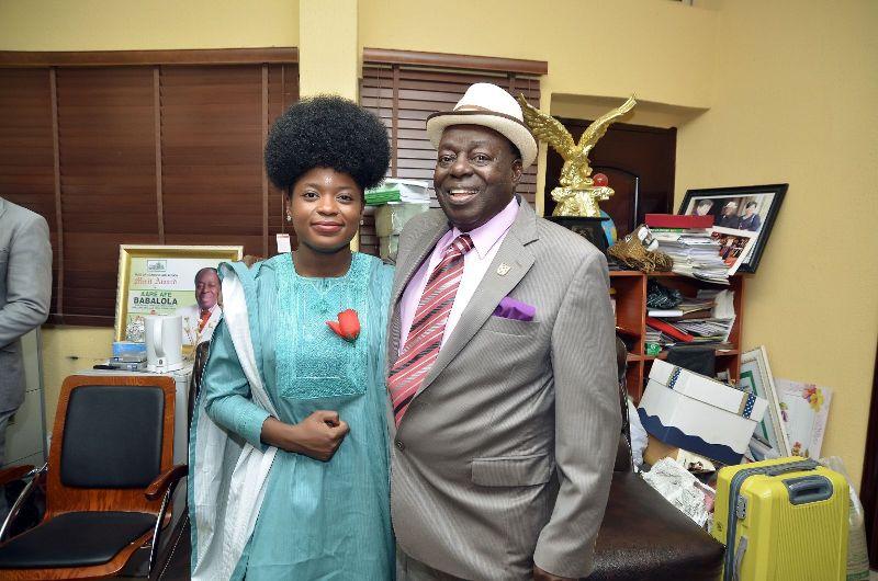 ADENIKE AKINSEMOLU WITH THE SENIOR ADVOCATE OF NIGERIA, AFE BABALOLA