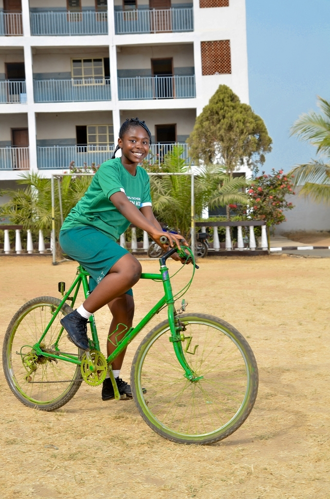 Homaj Student riding a bicycle #SustainableTransportation