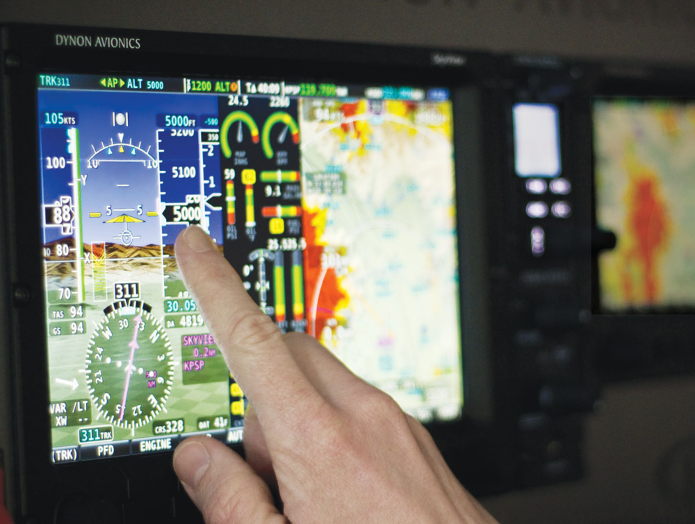 SkyView Touch is the first avionics touch interface actuallydesigned to work well in the cockpit. Learn more→
