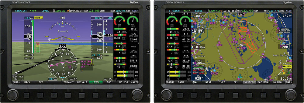 Have two engines or a large radial? The New SkyView has you covered→