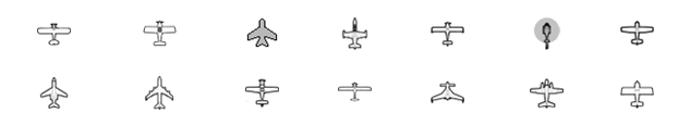Customizable  Aircraft Icons