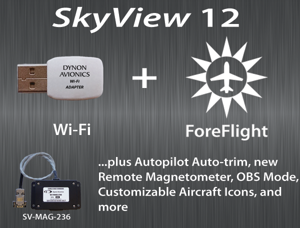 Learn more about SkyView 12, including SkyView's Wi-Fi capability...